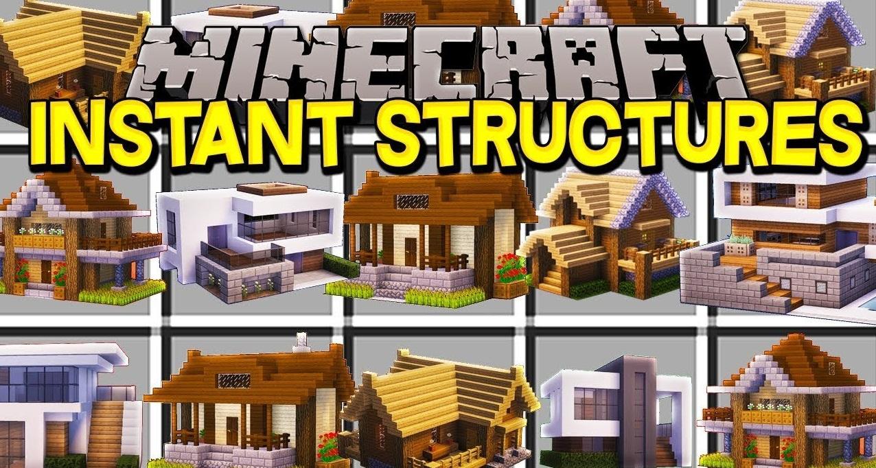 Мод на дома в один клик - Instant Massive Structures [1.15.1] [1.14.4] [1.12.2] [1.11.2] [1.10.2] [1.9] [1.8] [1.7.10]