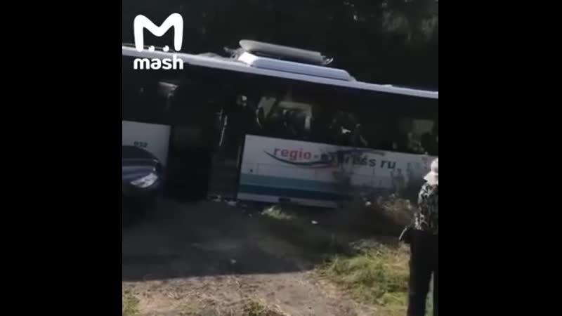 В Калининградской области в ДТП с автобусом погибли шесть человек среди них оди