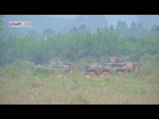 China new 6x6 infantry fighting vehicle field live firing
