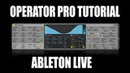 Ableton Operator Synth Tutorial Deep Dive