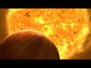 Artist's animation of the Sun becoming a red giant