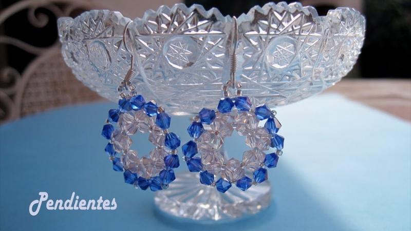 DIY Pendientes tupis rosa y azul Pink and blue tupi earrings الأقراط الوردي والأزرق tupi