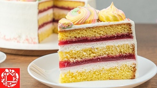 Как приготовить вкусный торт? Бисквитный торт с малиной и сметанным кремом