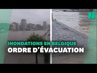 Appel à évacuer Liège après les inondations qui touchent la Belgique et l'Allemagne
