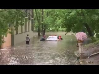 Потоп в Москве | Сильный ливень затопил улицы