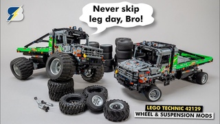 Initial mods of the LEGO Technic 42129 Zetros - wheels, suspension, body parts & a potential problem
