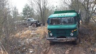 Кто круче? Дизельный ГАЗ-66 против ЗИЛ-157 на бездорожье!!!
