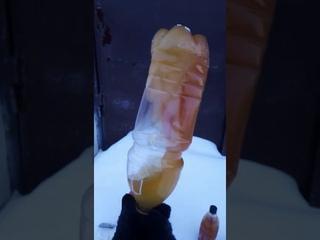 Тест на текучесть масел JAYTEC в мороз - минус 40 градусов