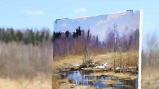 Весенний этюд. Живопись на пленэре. Spring study. Painting in the open air. #27