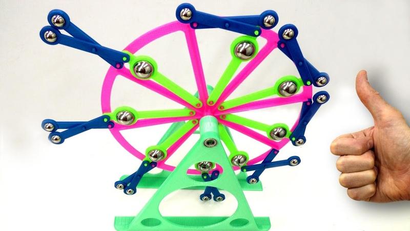 🌑 ВЕЧНЫЙ ДВИГАТЕЛЬ на 3D принтере Ведет борьбу с гравитацией и побежда Free Energy Игорь Белецкий