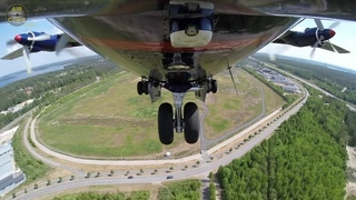 Antonov 12 full Startup and Takeoff from unique Nose Camera, MUST SEE!!! [AirClips]
