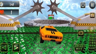 Real Ferrari Yellow Taxi Car Stunts 3D - Crazy Ramp Car Stunt & Impossible Tracks #2