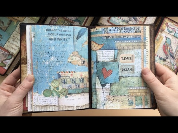 Cosy mini junk books available in my Etsy shop