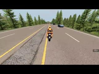 [Max Deep] ШЛЕМ НЕ СПАС! ПОСЛЕДНИЙ ТРЮК ПЕРЕД СМЕРТЬЮ НА МОТОЦИКЛЕ | BeamNG.drive