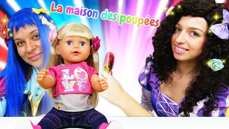 Les princesses et Zapf Baby Born Sister Les barrettes pour les cheveux