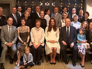 Raw: Duchess Kate Visits Set of Downton Abbey