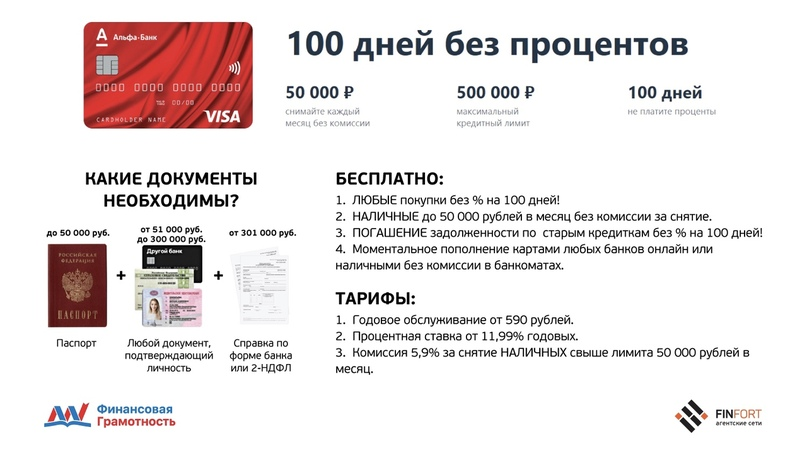 снятие наличных с кредитной карты альфа банка 100 дней без процентов в других банкоматах