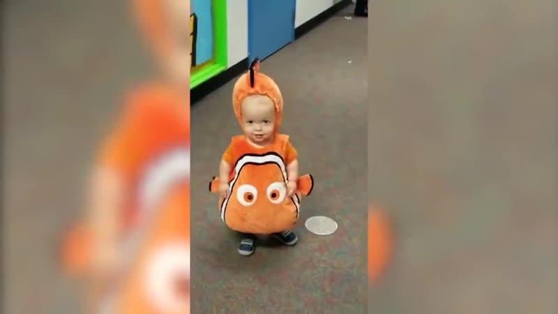 Классический Аниме Клоун Рыба Мони милый детский костюм