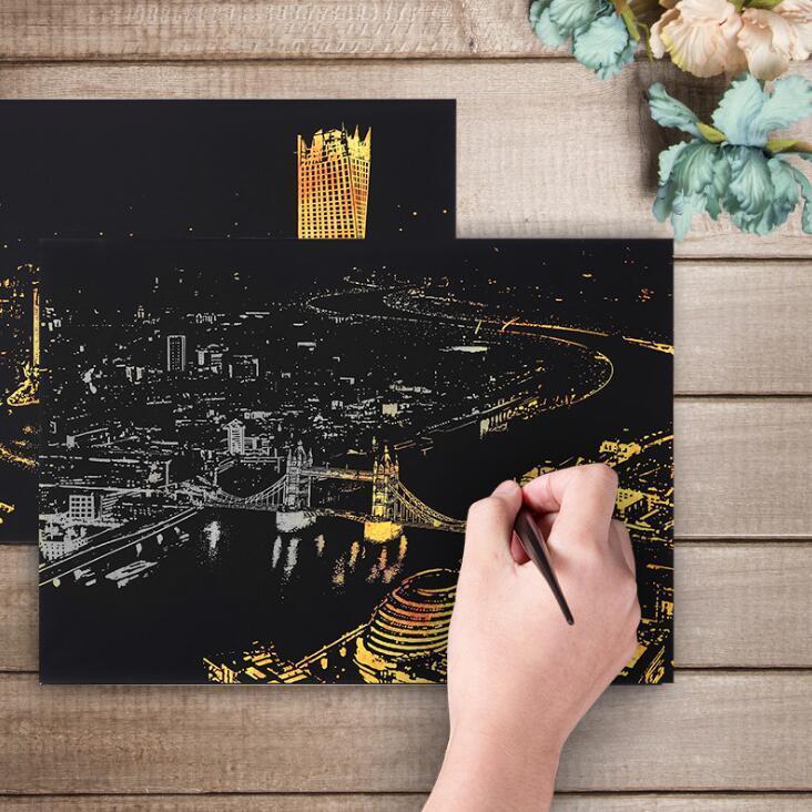Комплект скретч открыток с городами -