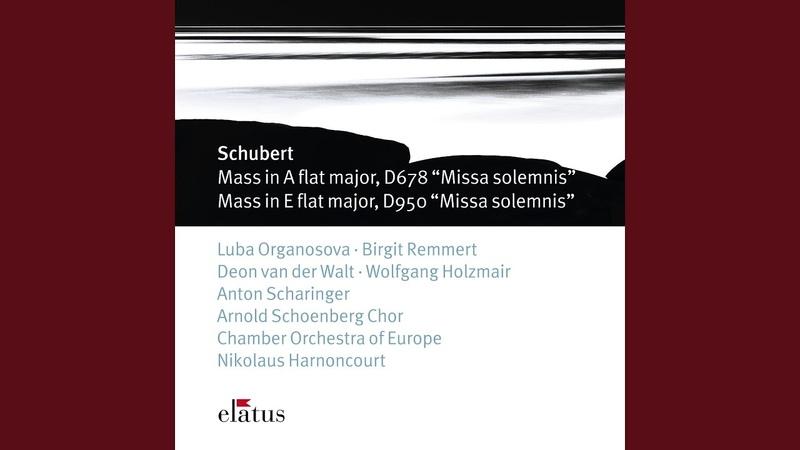 Mass No.5 in A flat major D678, 'Missa Solemnis' : VI Agnus Dei