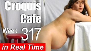 Croquis Cafe: Figure Drawing Resource No. 317 (pregnant model)