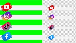 Lower Thirds YouTube, Facebook, Instagram, TikTok | green screen, transparent | free download