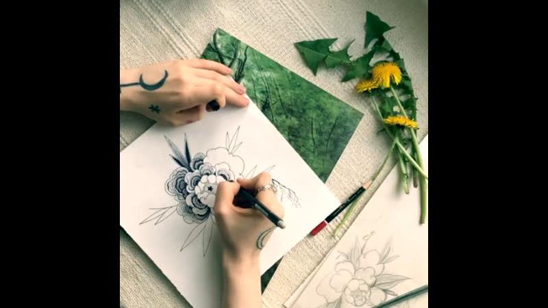 Трутовый пион дитя любви весны и леса