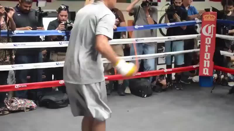 Профессиональная боксёрская работа на скакалке