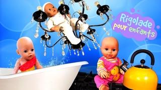 Poupons disparus! Vidéo amusante avec le mime et Baby Born pour enfants.