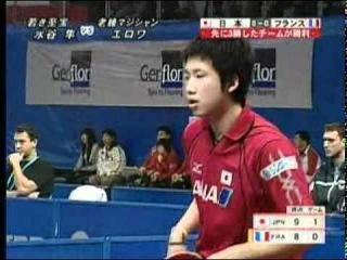 2008 WTTC Men's Teams France vs. Japan Damien Eloi-Jun Mizutani