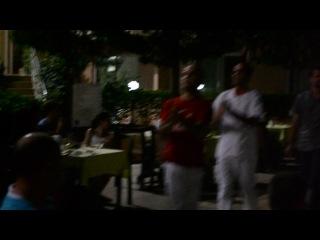 Танцующие официанты и повара отеля kemer dream