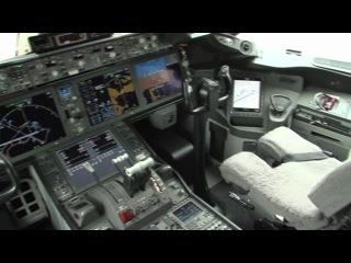 Cockpit view. Boeing 787 - Farnborough 2010 Air Show - 24 czerwca Dreamliner w Warszawie