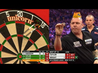 Phil Taylor vs Peter Wright (2014 Premier League Darts / Week 14)