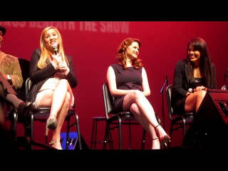 Sandra Oh Jessica Capshaw and Sara Ramirez Q A at the Grey's Concert benefiting the Actors Fund