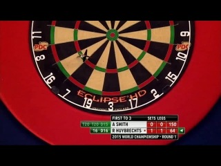 Andy Smith vs Ronny Huybrechts (PDC World Darts Championship 2015 / Round 1)