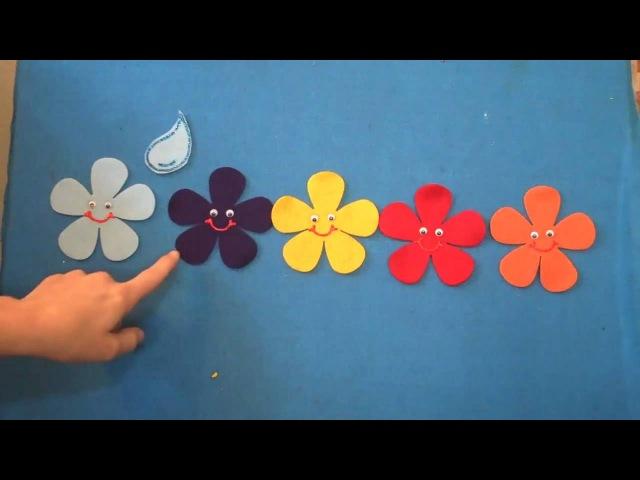 Английский язык Мини занятия на фланелеграфе Five Spring Flowers Children's Music