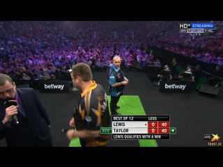 Adrian Lewis vs Phil Taylor (2016 Premier League Darts / Week 14)