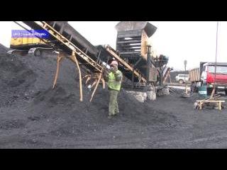 Советская Гавань.Угольная пыль. Март 2017.
