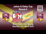 2018 CRL - Andrew Johns and Laurie Daley Cups - Round 4 - Central Coast v Northern Rivers