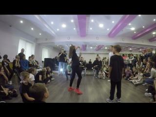 Shpil (+) vs kiki_18 vs данила кудрявцев   electro dance kids   final   будь собой баттл 2