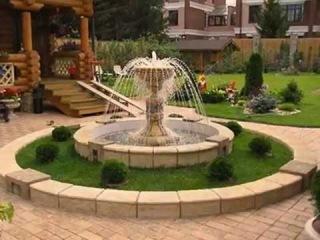 Ландшафтный дизайн с фонтанами и фонтанчиками. Лучшая подборка.