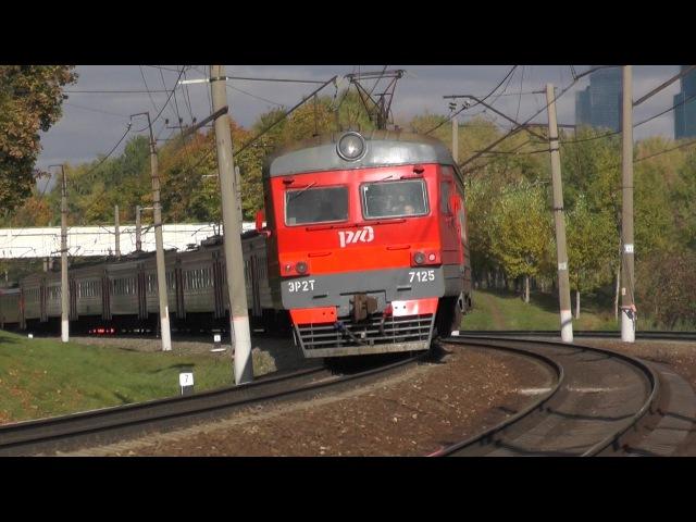 Электропоезд ЭР2Т-7125 перегон Москва-Сорт-Киевская - Очаково