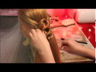 Уроки по созданию стильных и красивых причесок. Причёска   'Запятые'