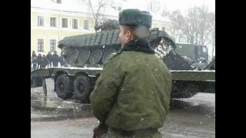 23.02.2013 уронили танк в Гродно
