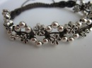 How to make a Shamballa Flowers Bracelet with metal beads