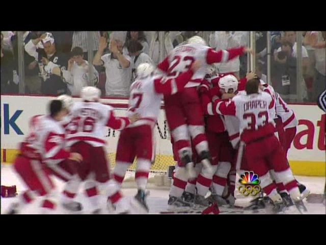 2008 Playoffs Det @ Pit Game 6 Highlights Stanley Cup Presentation
