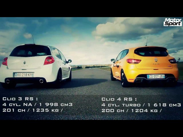 Drag race Renault Clio 4 RS VS Clio 3 RS Cup Motorsport NaZa5aske