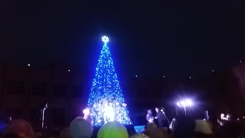 Як засвічували новорічну ялинку в смт. Ємільчине