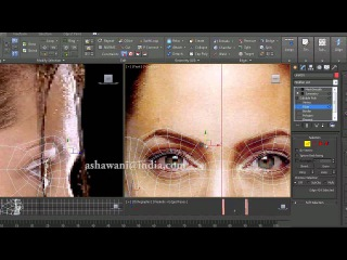 How to Model Lowpoly Face Angelina Jolie in 3d max part 1