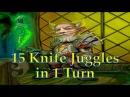15 Knife Juggles in 1 Turn